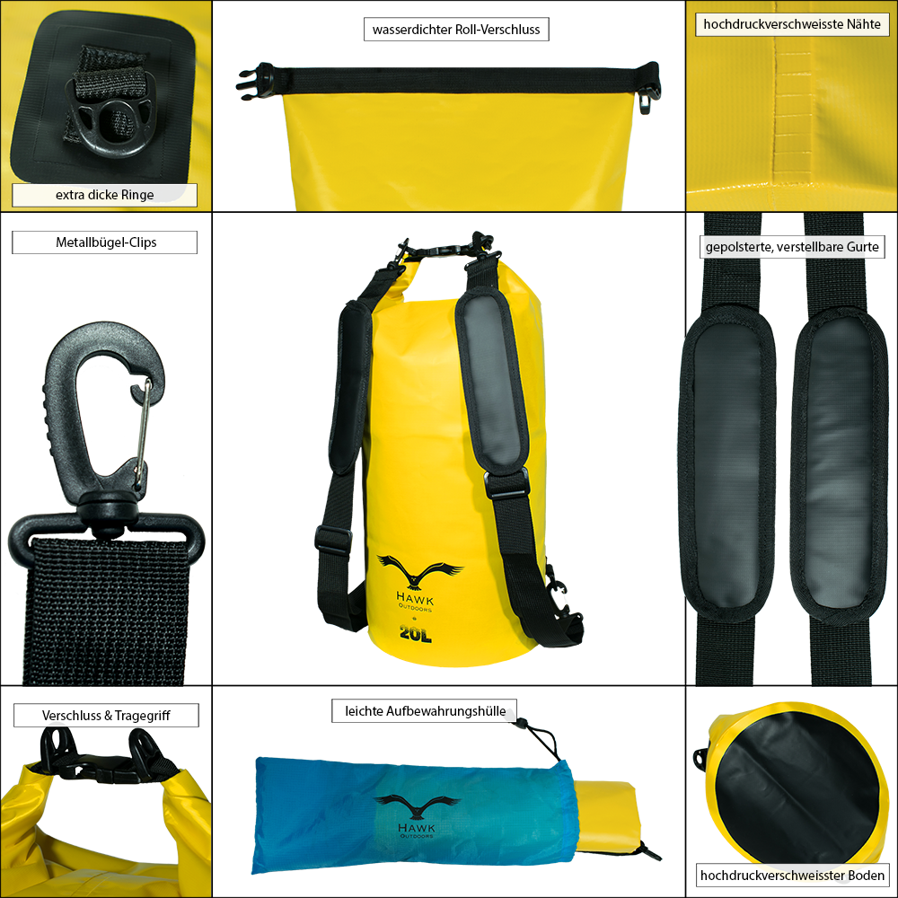 HAWK Outdoors Dry Bags - Details